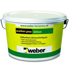 Штукатурка силиконовая Weber-Vetonit pas silikon Короед 2 мм белый 25 кг