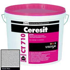 Штукатурка Ceresit CT 710 Visage Гранит Nordic White 20 кг