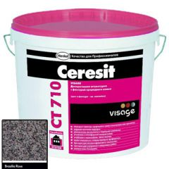Штукатурка Ceresit CT 710 Visage Гранит Brasilia Rose 20 кг