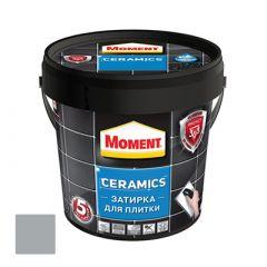 Затирка Moment Ceramics для плитки серая 1 кг