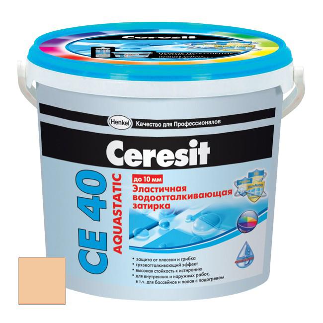 Затирка цементная Ceresit CE 40 Aquastatic Персик №28 2 кг