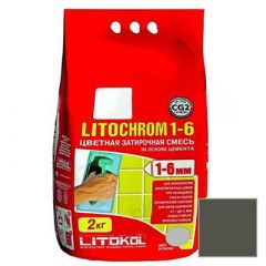 Затирка цементная Litokol Litochrom 1-6 С.470 черная 2 кг
