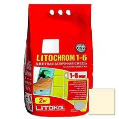 Затирка цементная Litokol Litochrom 1-6 С.480 ваниль 2 кг