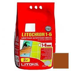 Затирка цементная Litokol Litochrom 1-6 С.500 красный кирпич 2 кг