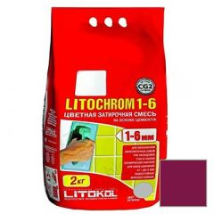Затирка цементная Litokol Litochrom 1-6 С.680 меланзана 2 кг