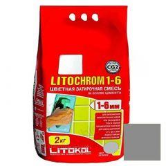 Затирка цементная Litokol Litochrom 1-6 С.10 серая 2 кг