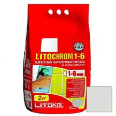 Затирка цементная Litokol Litochrom 1-6 С.20 светло-серая 2 кг