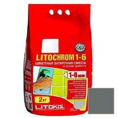 Затирка цементная Litokol Litochrom 1-6 С.40 антрацит 2 кг