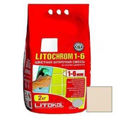 Затирка цементная Litokol Litochrom 1-6 С.60 бежевая 2 кг