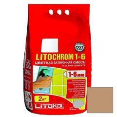 Затирка цементная Litokol Litochrom 1-6 С.140 светло-коричневая 2 кг