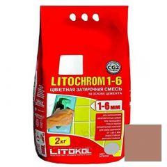 Затирка цементная Litokol Litochrom 1-6 С.90 красно-коричневая 2 кг