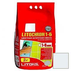 Затирка цементная Litokol Litochrom 1-6 С.120 светло-голубая 2 кг