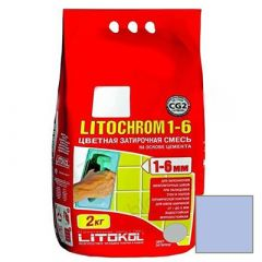 Затирка цементная Litokol Litochrom 1-6 С.190 васильковая 2 кг