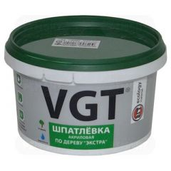 Шпатлевка акриловая по дереву VGT Экстра махагон 1 кг