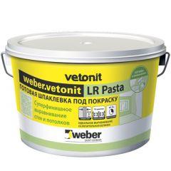 Шпатлевка полимерная Weber-Vetonit LR Pasta белый 15 кг