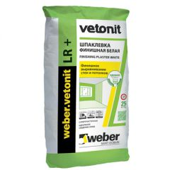 Шпатлевка полимерная Weber-Vetonit LR+ белый 25 кг