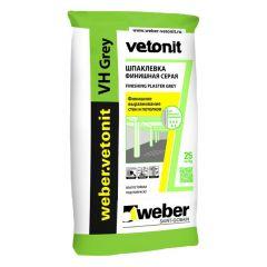 Шпатлевка цементная Weber-Vetonit VH серый 25 кг