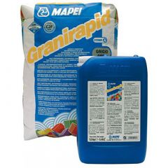 Клей для плитки Mapei Granirapid двухкомпонентный серый 30,5 кг