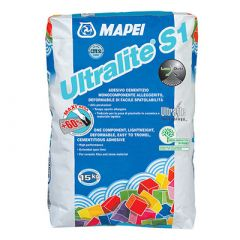 Клей для плитки Mapei Ultralite S1 белый 15 кг