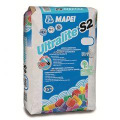 Клей для плитки Mapei Ultralite S2 белый 15 кг