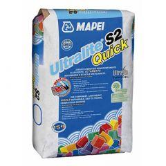 Клей для плитки Mapei Ultralite S2 Quick белый 15 кг