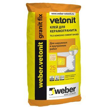 Клей для керамогранита Weber-Vetonit granit fix 25 кг