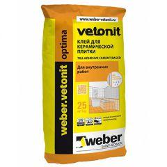 Клей для плитки Weber-Vetonit Optima 25 кг