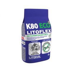 Беспылевая клеевая смесь Litokol Litoflex K80 eco 5 кг