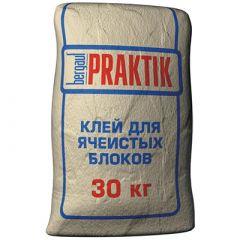 Клей для ячеистых блоков Bergauf Praktik 30 кг