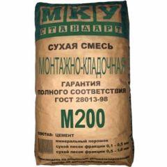 Смесь цементная МКУ Стандарт монтажно-кладочная М-200 40 кг