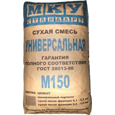 Смесь цементная МКУ Стандарт М-150 универсальная 40 кг