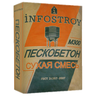 Пескобетон Инфострой М-300 40 кг