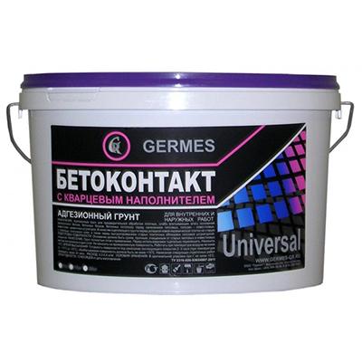 Грунтовка адгезионная Гермес Бетоноконтакт с кварцевым наполнителем 1,5 кг