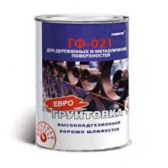 Грунтовка алкидная Farbitex ГФ-021 по дереву и металлу красно-коричневая 0,9 кг
