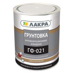 Грунтовка алкидная Лакра ГФ-021 антикоррозионная серая 1 кг