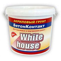 Грунтовка акриловая White House бетонконтакт 6 кг