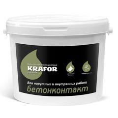 Грунтовка акриловая Krafor водно-дисперсионная Бетоноконтакт 12 л