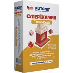 Клей термостойкий Плитонит Супер Камин с армирующими волокнами 25 кг