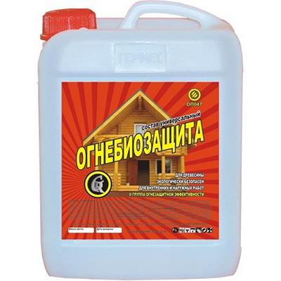 Огнебиозащита универсальная Гермес Красное дерево класс огнестойкости 2 40 л