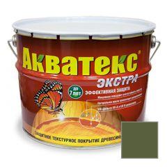 Защитно-декоративное покрытие Акватекс Экстра для древесины еловая зелень 10 л