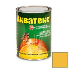 Защитно-декоративное покрытие Акватекс для древесины желтый 0,8 л