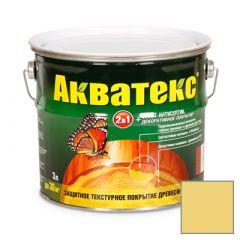 Защитно-декоративное покрытие Акватекс для древесины желтый 3 л