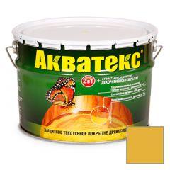 Защитно-декоративное покрытие Акватекс для древесины желтый 10 л