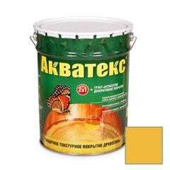 Защитно-декоративное покрытие Акватекс для древесины желтый 20 л