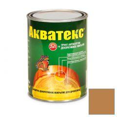 Защитно-декоративное покрытие Акватекс для древесины калужница 0,8 л