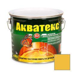 Защитно-декоративное покрытие Акватекс для древесины калужница 3 л