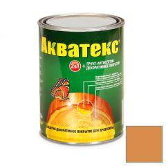 Защитно-декоративное покрытие Акватекс для древесины груша 0,8 л