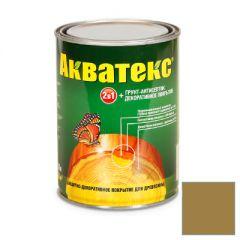 Защитно-декоративное покрытие Акватекс для древесины дуб 0,8 л