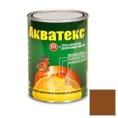 Защитно-декоративное покрытие Акватекс для древесины орех 0,8 л