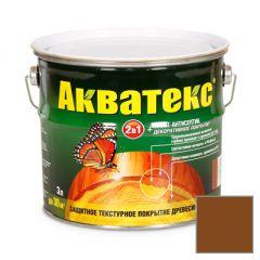Защитно-декоративное покрытие Акватекс для древесины орех 3 л